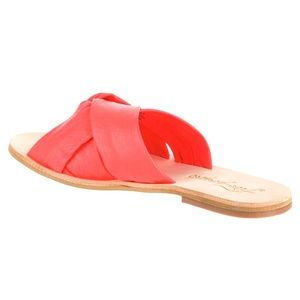 Free people Rio Vista orange slide sandal Sz 39